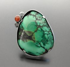 Tidal Pool Ring Sterling Silver Turquoise and by ashleyjewelry, $225.00