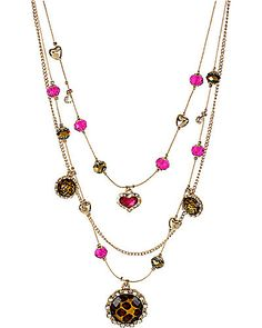 AT THE ZOO LEOPARD ILLUSION NECKLACE LEOPARD Betsey Johnson $45