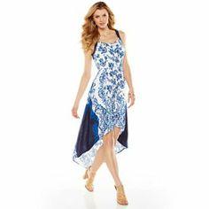 ELLE Floral Hi-Low Maxi Dress #Summer #Kohls