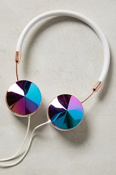 Interchangeable Enamel Headphone Caps - anthropologie.com #anthrofave
