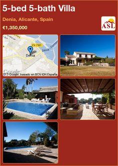 5-bed 5-bath Villa in Denia, Alicante, Spain ►€1,350,000 #PropertyForSaleInSpain