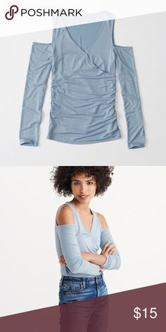 NWT Abercrombie & fitch cold shoulder wrap top NWT Abercrombie & Fitch Tops