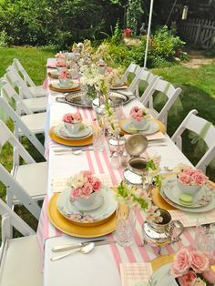ladies luncheon - pink stripe runner