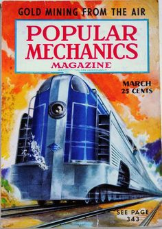 SCIENCE MAGAZINE COVER POPULAR MECHANICS ROCKET SHIP SPACE USA POSTER BB7368B