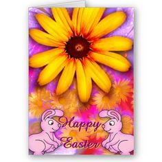 $3.60 #cards  #easter #zazzle #elenaindolfi Happy Easter Card by elenaind