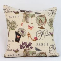 Povlak na polštářek Paris Throw Pillows, Toss Pillows, Cushions, Decorative Pillows, Decor Pillows, Scatter Cushions