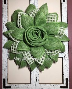 Purple flower rose bud mother's day wreath – Artofit Sunflower Burlap Wreaths, Burlap Flowers, Fabric Flowers, Burlap Crafts, Wreath Crafts, Diy Wreath, Easter Wreaths, Christmas Wreaths, Deco Mesh Wreaths