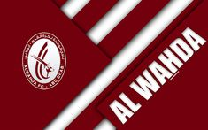 Download wallpapers Al Wahda FC, emirate football club, 4k, material design, burgundy white abstraction, emblem, logo, UAE Pro-League, Abu Dhabi, United Arab Emirates, football, Arabian Gulf League, UAE