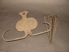 """18th Century Skewer holder with skewers 11 3/4 X 8 1/8"""""""