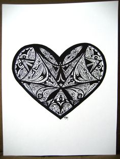 marker abstract drawing heart drawings lines doodle easy markers creative graphic designs crafts artsy