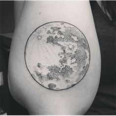 Done in Media, PA by Miss. Jenny at Baltimore Ave. Tattoo.I've been an insomniac most of my life, so I've spent a fair amount of time being up at the same time as the moon. I'm in love with the dot-work and amazed it didn't hurt at all, super happy with tattoo #4. Definitely plan on going back and working with the artist again.