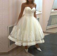 2016 Modern Ivory Short Ball Gown Wedding Dresses