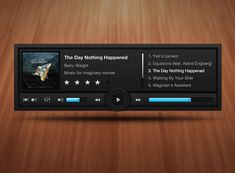 Hovering music player @Justin Maxwell