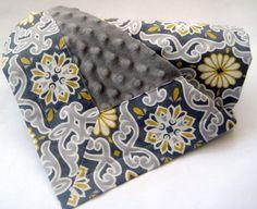 Gender Neutral Baby Blanket  Modern Scroll by EllieandDash on Etsy, $42.00