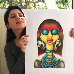 #guacamayo #painting #art #artist #artwork Painting Art, Fashion Art, Style Me, Carnival, My Arts, Face, Artist, Artwork, Colors