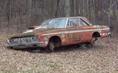 1964 Plymouth Drag Car - Sad end to a warriors life. :( does anyone know where I can find this car? Old Race Cars, Old Cars, Ford Mustang, Junkyard Cars, Abandoned Cars, Abandoned Vehicles, Abandoned Places, Car Barn, Rusty Cars