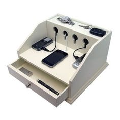 Heiden Deluxe Charging Station Valet - If devices are taking over your desk, purchase a charging station for all of your electronics.