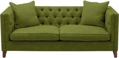 Haresfield fitted cover large sofa in Humber crushed chenille Lime