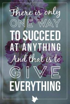 Give everything