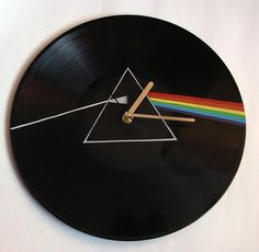 Pink Floyd The Dark Side of the Moon vinyl record clock on Etsy, $39.97 CAD