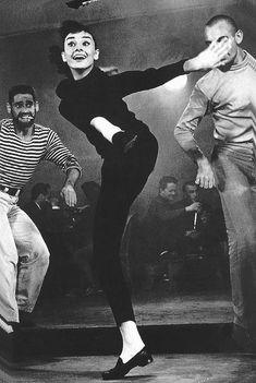 Audrey Hepburn Dances In Funny Face