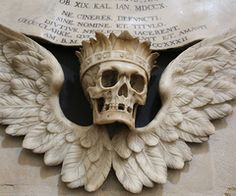 Christchurch College chapel crowned skull