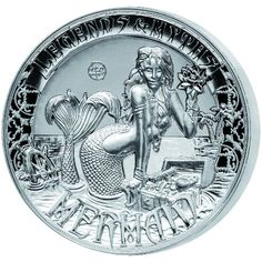 2016 2 oz Reverse Proof Solomon Islands Silver Legends and Myths Mermaid Coins from JM Bullion™