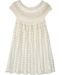 Ryan Roche Ivory Crochet Dress. Shop it and 29 other dresses that are Coachella-ready.