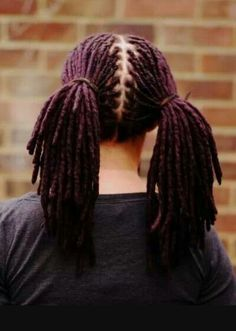 Purple locs