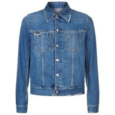 Maison Margiela Distressed Denim Jacket (12.035 ARS) ❤ liked on Polyvore featuring outerwear, jackets, mens distressed leather jacket and mens distressed denim jacket