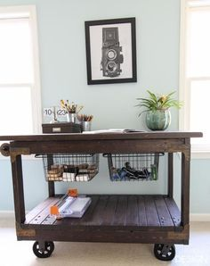 Craft Table DIY indu...
