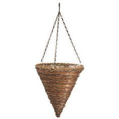 Hanging Flower Basket, Cone Shape, Rope & Fern, 12-In.: Model# 88636 | True Value