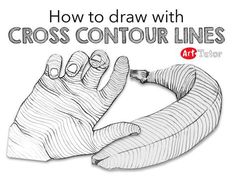 Cross contour drawing exercises are great for helping strengthen your observational muscles. And when you start shading your mark-making will be that much more believable as a result. Watch the video below for some cross-contour exercises that you can ha Teaching Drawing, Drawing Practice, Drawing Skills, Drawing Lessons, Drawing Techniques, Teaching Art, Drawing Tips, Art Lessons, Drawing Tutorials