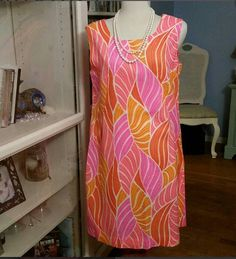 Check out this item in my Etsy shop https://www.etsy.com/listing/607567763/handmade-island-oasis-vintage-dress-pink