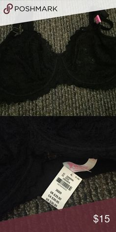 NWT 36DD unlined black date bra Firm Victoria's Secret Intimates & Sleepwear Bras