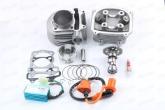 Cylinder and Head 63mm Alloy Big Bore Kit - for GY6 150cc 200cc Scooters A9 Cam 02-1 #Affiliate