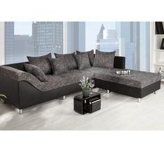 Canapé d'angle droit Sultan Noir
