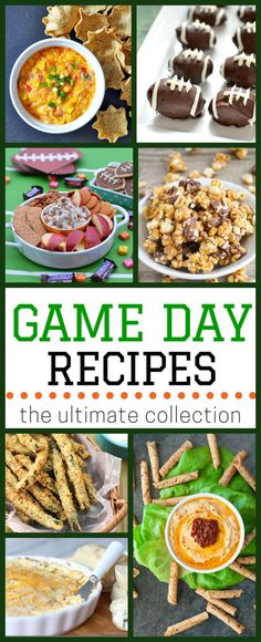 From finger foods and chili to dips, salsa, and desserts, this is an ultimate collection of over 100 game day recipes! Perfect for your Super Bowl Sunday party! | typicallysimple.com