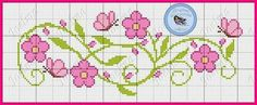This Pin was discovered by ale Cross Stitch Heart, Cross Stitch Borders, Cross Stitch Alphabet, Cross Stitch Flowers, Cross Stitch Designs, Cross Stitching, Cross Stitch Embroidery, Cross Stitch Patterns, Jewelry Making Tutorials