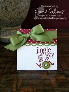 stampin up 3x3 christmas note cards - Google Search