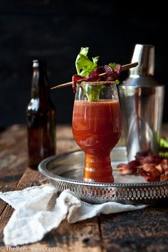 Sriracha Bloody Beer with Chili Sugar Bacon | The Beeroness