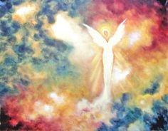 Angel Art Print, Guardian Angel, Healing Art, Angel Light, From The Original Oil Painting by Marina Petro - pinned by pin4etsy.com