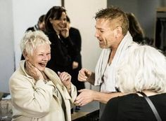 Dame Judi Dench and Sir Kenneth Branagh rehearsing The Winter's Tale 2015