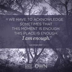 You are enough! Right Here, Right Now You have everything you need to live a powerful life of significance. pic.twitter.com/tJOCh03B7i