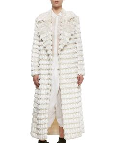 Adam Lippes Cream Fringed Tassel Coat | From a collection of rare vintage jackets at https://www.1stdibs.com/fashion/clothing/jackets/