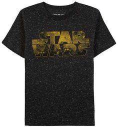 Star Wars Toddler Boys' Short Sleeve T-Shirt - Black Speckle