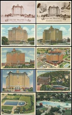 Postcards from the Baker Hotel, Mineral Wells, TX