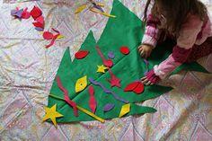 Green Owl Art: Felt Christmas Tree