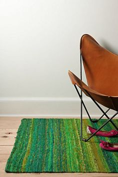 grass striped rug at #anthropologie.
