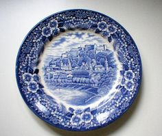 Pair of #BroadhurstChina Austrian Castles Plates, £12.00 by Ann Shirley: Lovely pair of Austrian Castles plates from Broadhurst in blue and white, around 9.5 inches. The scene depicted is Festung Hohensaltzburg, full of detail and in very good condition. I have more of these plates available.  I am happy to combine postage and will refund any overpayment when I have calculated the final cost.  All my items can be collected from...